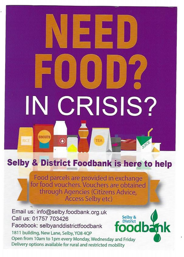 Selby * District |Foodbank Leaflet